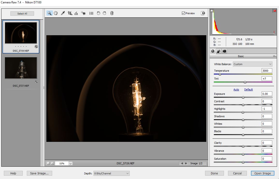 photographing light bulb edit 1