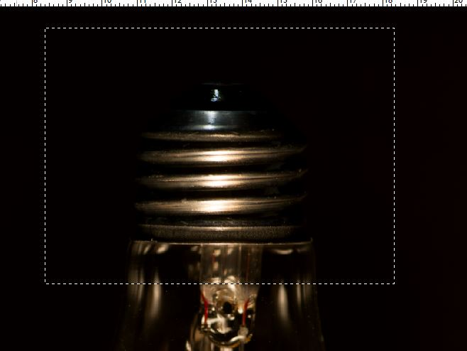 photographing light bulb base