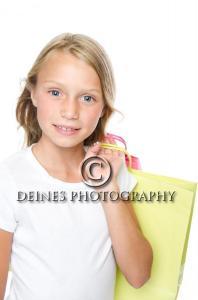 girl shopping portrait
