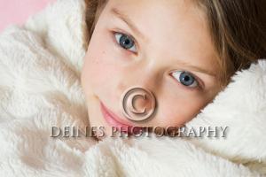 snuggle girl portrait
