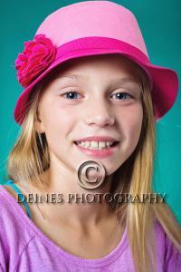 girl hat portrait
