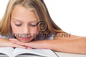 girl reading portrait