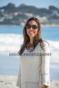 woman at beach photograph