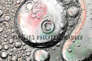 oil droplets with water