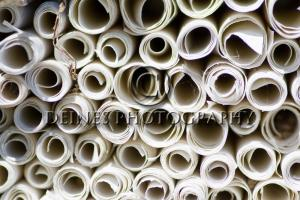 rolled paper photograph